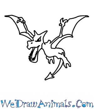 How to Draw  Aerodactyl in 7 Easy Steps