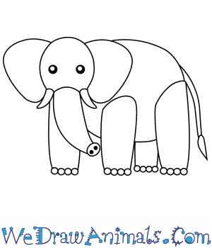 How To Draw A Simple African Elephant For Kids
