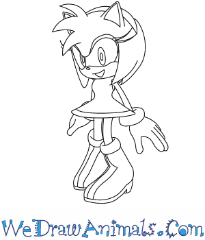 How To Draw Amy Rose From Sonic The Hedgehog