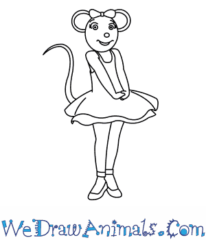 How to Draw  Angelina Ballerina in 8 Easy Steps
