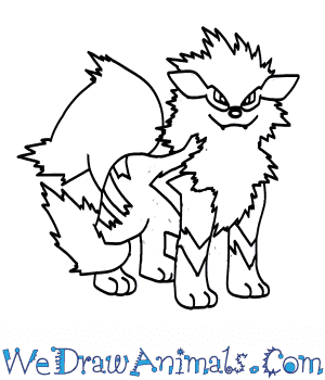 How to Draw  Arcanine in 7 Easy Steps