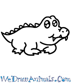 How To Draw A Baby Alligator