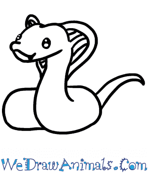How to Draw a Baby Cobra in 4 Easy Steps