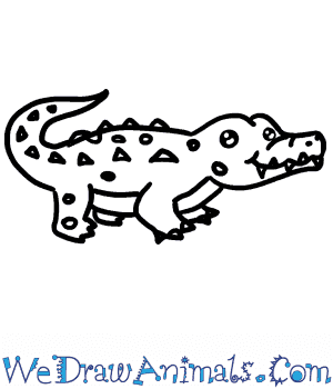 How to Draw a Baby Crocodile in 7 Easy Steps