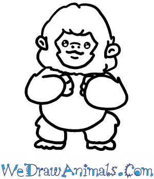 How to Draw a Baby Gorilla in 4 Easy Steps