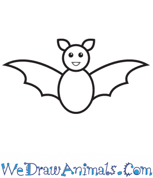 How to Draw a Bat For Kids in 6 Easy Steps