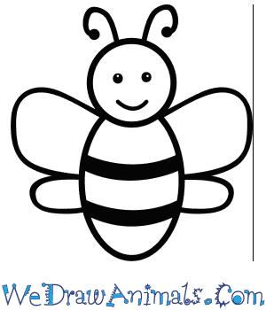 How to Draw a Bee For Kids in 6 Easy Steps