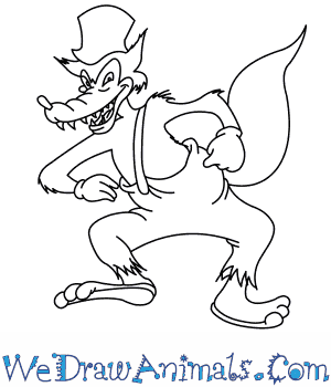How to Draw  Big Bad Wolf in 8 Easy Steps
