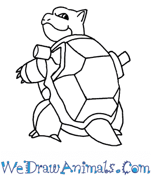How to Draw  Blastoise in 7 Easy Steps