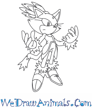 How to Draw  Blaze The Cat in 8 Easy Steps