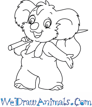 How to Draw  Blinky Bill From The Adventures Of Blinky Bill in 7 Easy Steps