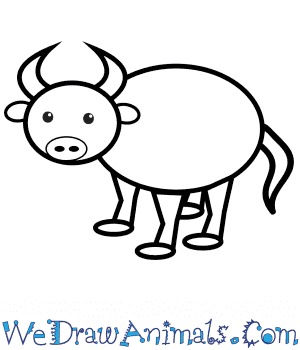 How to Draw a Buffalo For Kids in 8 Easy Steps