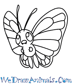 How to Draw  Butterfree in 7 Easy Steps