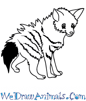 How to Draw a Cartoon Aardwolf in 8 Easy Steps