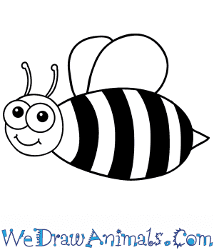 How to Draw a Cartoon Bee in 7 Easy Steps