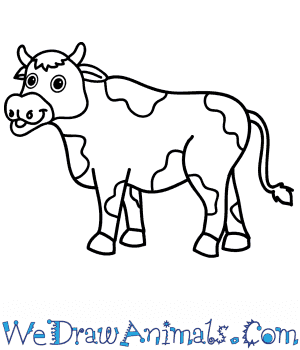 How to Draw a Cartoon Cow in 9 Easy Steps