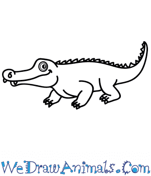 How to Draw a Cartoon Crocodile in 7 Easy Steps