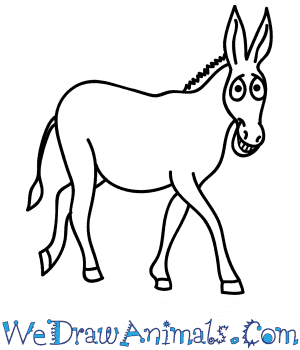 How to Draw a Cartoon Donkey in 9 Easy Steps