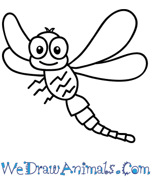 How to Draw a Cartoon Dragonfly in 7 Easy Steps