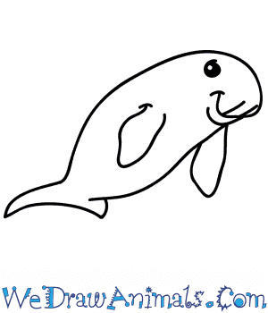 How to Draw a Cartoon Dugong in 4 Easy Steps