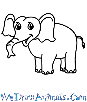 How to Draw a Cartoon Elephant in 8 Easy Steps