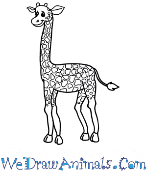 How to Draw a Cartoon Giraffe in 10 Easy Steps