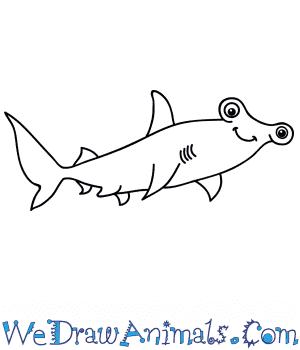 How to Draw a Cartoon Hammerhead Shark in 7 Easy Steps