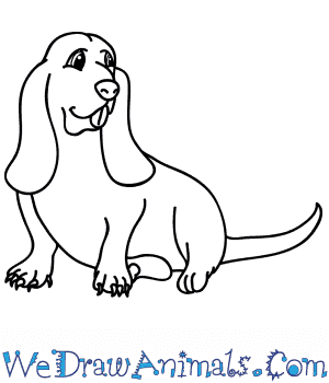 How to Draw a Cartoon Hound Dog in 7 Easy Steps