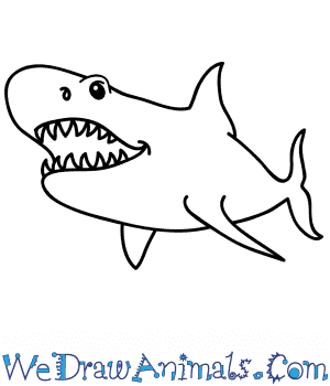 How to Draw a Cartoon Megalodon Shark in 7 Easy Steps