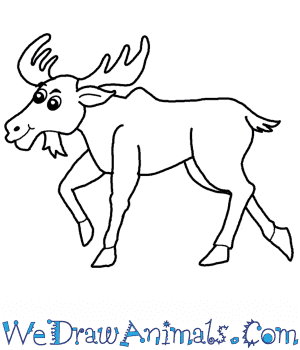 How to Draw a Cartoon Moose in 6 Easy Steps