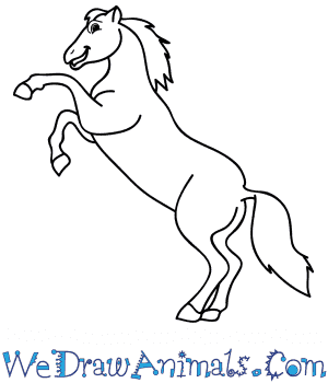 How to Draw a Cartoon Mustang Horse in 8 Easy Steps