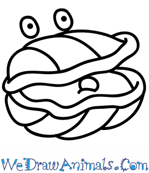 How to Draw a Cartoon Oyster in 5 Easy Steps