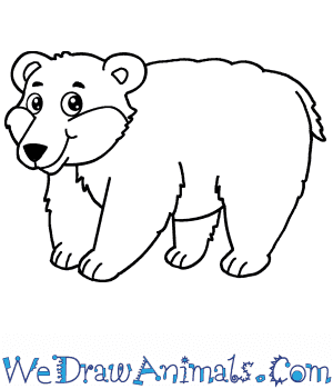 How to Draw a Cartoon Polar Bear in 6 Easy Steps