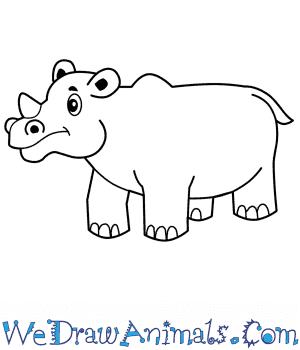 how to draw a cartoon rhino how to draw a cartoon rhino