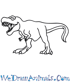 How to Draw a Cartoon Tyrannosaurus in 6 Easy Steps