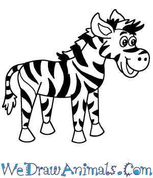 How to Draw a Cartoon Zebra in 7 Easy Steps