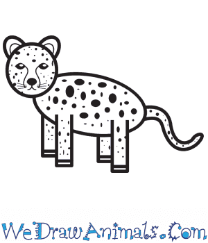 How to Draw a Simple Cheetah for Kids