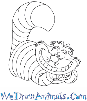 How to Draw  Cheshire Cat in 7 Easy Steps