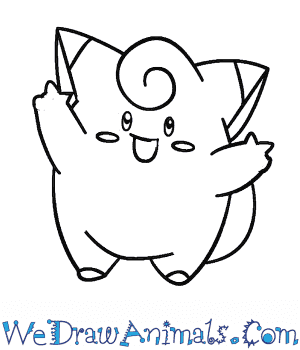 How to Draw  Clefairy in 7 Easy Steps