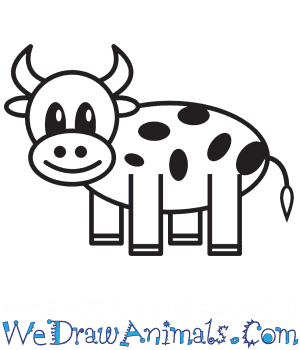 How to Draw a Cow For Kids in 9 Easy Steps