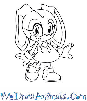 How to Draw  Cream The Rabbit From Sonic The Hedgehog in 8 Easy Steps