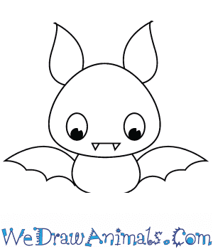 How to Draw a Cute Bat in 3 Easy Steps