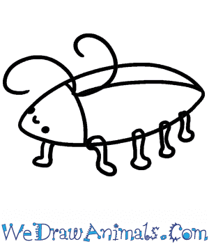 How to Draw a Cute Cockroach in 4 Easy Steps