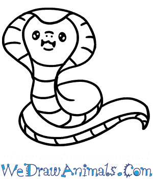 How to Draw a Cute King Cobra in 3 Easy Steps