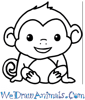 How to Draw a Cute Monkey in 4 Easy Steps