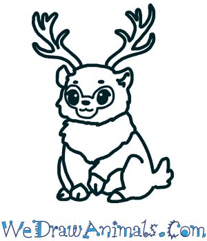 How To Draw A Cute Reindeer
