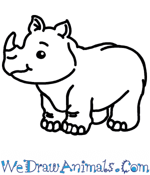 How to Draw a Cute Rhino in 5 Easy Steps