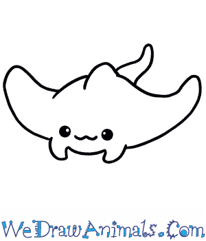 How to Draw a Cute Stingray in 3 Easy Steps