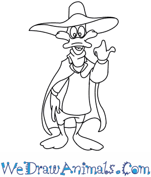 How to Draw  Darkwing Duck in 7 Easy Steps
