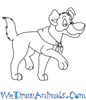 How to Draw  Dodger From Oliver And Company in 7 Easy Steps